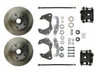 "Front Brake Kits - Street / Truck - Right Stuff Detailing Front Disc Brake Conversion Manual Kits - Right Stuff Detailing - Right Stuff Detailing Disc Conversion Brake System Front 1 Piston 11.00"" Rotors - Offset Hat"