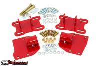 Recently Added Products - UMI Performance - UMI Performance Bolt-On Motor Mount Hardware Included Steel Red Powder Coat - GM LS-Series