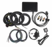 "Gauges and Data Acquisition - Holley Performance Products - Holley Performance Products 7"" Touch Screen Digital Dash GPS Speedometer - Wiring Harness/Memory Stick/Oil Pressure Sensor/CTS Sensor/MAT Sensor Included"