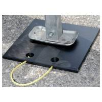 "Trailer Jacks and Components - Trailer Jack Pads - Clear 1 Racing - Clear 1 Racing 12 x 12"" Square Jack Pad Plastic - Black"