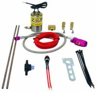 Air & Fuel System - Comp Cams - Comp Cams Dual Outlet Nitrous Oxide Purge Kit V-Pattern Purge Clouds Solenoid/Wiring/Fittings/Button 4 AN Threads - Kit