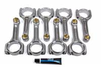 "Connecting Rods and Components - Connecting Rods - Bullet Pistons - Bullet Pistons I Beam Connecting Rod 6.000"" Long Bushed 7/16"" Cap Screws - Forged Steel - SB Chevy"
