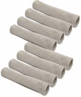 """Spark Plug Wires Accessories - Spark Plug Wire Protection - Design Engineering - Design Engineering EXO Series Protect-A-Boot Spark Plug Boot Sleeve 6"""" Long Woven Fiberglass Silver - Set of 8"""