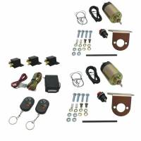 AutoLoc - AutoLoc 2 Doors Shaved Door Handle Kit 8 Function 35 lb Solenoids Harness/Receivers/Remotes Included - Universal
