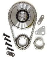 Rollmaster - ROLLMASTER-ROMAC Red Series Timing Chain Set Double Roller Keyway Adjustable Needle Bearing - Billet Steel
