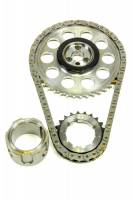 Recently Added Products - Rollmaster - ROLLMASTER-ROMAC Red Series Timing Chain Set Single Roller Keyway Adjustable Needle Bearing - Billet Steel