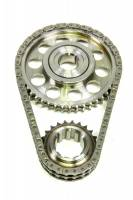 Rollmaster - ROLLMASTER-ROMAC Red Series Timing Chain Set Double Roller Keyway Adjustable Billet Steel - AMC V8