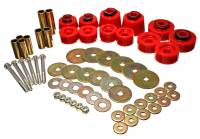 Exhaust System - Energy Suspension - Energy Suspension Hyper-Flex Body Mount Bushing Hardware Included Steel/Polyurethane Zinc Oxide/Red - Ford Compact Truck 1998-2011