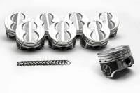 "Pistons and Piston Rings - NEW - Pistons - NEW - Speed Pro - Speed Pro Hypereutectic Piston 4.040"" Bore 5/64 x 5/64 x 3/16"" Ring Grooves Minus 8.0 cc - Coated Skirt"