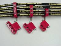 Recently Added Products - Taylor Cable Products - Taylor Cable Products 7-8 mm Wires Spark Plug Wire Divider Nylon Red Clamp Style - Vertical
