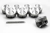 "Pistons and Piston Rings - NEW - Pistons - NEW - Speed Pro - Speed Pro Hypereutectic Piston 4.020"" Bore 5/64 x 5/64 x 3/16"" Ring Grooves Minus 8.0 cc - Coated Skirt"