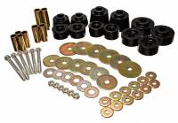 Exhaust System - Energy Suspension - Energy Suspension Hyper-Flex Body Mount Bushing Steel/Polyurethane Zinc Oxide/Black Ford/Mazda Compact Truck 1998-2011 - Kit