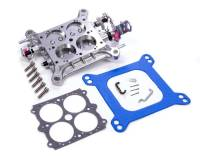 Exhaust System - Quick Fuel Technology - Quick Fuel Technology Complete Carburetor Base Plate Aluminum Clear Anodize Holley 4150/4150HP/Quick Fuel Carburetor - Each