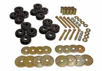 Recently Added Products - Energy Suspension - Energy Suspension Hyper-Flex Body Mount Bushing Hardware Included Steel/Polyurethane Zinc Oxide/Black - Ford Bronco 1966-77