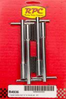 """Exhaust System - Racing Power - Racing Power Stud Valve Cover Fastener 1/4-20"""" Thread 1.375"""" Long Wing Nuts - 5-3/8"""" Long"""