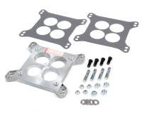 """Recently Added Products - Trans-Dapt Performance - Trans-Dapt Performance 1/2"""" Thick Carburetor Adapter 4 Hole Rochester 4 Barrel to Square Bore Gasket/Hardware - Aluminum"""