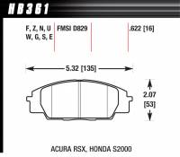 Recently Added Products - Hawk Performance - Hawk Performance HPS Compound Brake Pads High Torque Front Acura/Honda® 2000-11 - Set of 4