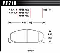 Recently Added Products - Hawk Performance - Hawk Performance Blue 9012 Compound Brake Pads Low-Intermediate Torque Low-Mid Temperature Honda® 1984-2000 - Set of 4