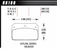 Brake Pad Sets - Circle Track - WilwoodDynalite Pads (7112) - Hawk Performance - Hawk Performance HPS Compound Brake Pads High Torque Front Wilwood Dynalite Calipers - Set of 4