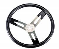 "Recently Added Products - Sweet Manufacturing - Sweet Manufacturing 16"" Diameter Steering Wheel 3 Spoke Flat Black Rubberized Grip - Aluminum"