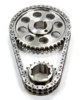 "Rollmaster - ROLLMASTER-ROMAC Red Series Timing Chain Set Double Roller Keyway Adjustable 0.005"" Shorter - Billet Steel"