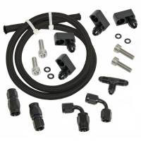 Cooling & Heating - Trick Flow - Trick Flow Fitting/Hardware/Hose Steam Vent Kit 4 Corner Black GM LS-Series - Kit