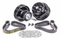 Engine Components - Jones Racing Products - Jones Racing Products 5 Rib Serpentine Pulley Kit Aluminum Black Anodized Small Block Chevy - Kit