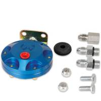 Recently Added Products - Mallory Ignition - Mallory Ignition 4 AN Fittings Fuel Pressure Isolator Up to 80 psi Billet Aluminum Blue Anodize - Mechanical Pressure Gauges