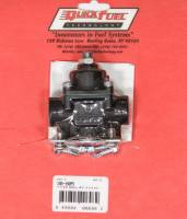 "Air & Fuel System - Quick Fuel Technology - Quick Fuel Technology 4.5-9 psi Fuel Pressure Regulator Inline 3/8"" Inlet/Outlets Aluminum - Black Anodize"