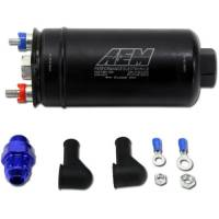 Air & Fuel System - AEM Electronics - AEM High Flow Electric Fuel Pump In-Line 380 lph at 90 psi 10 AN Female O-Ring Inlet - 6 AN Female O-Ring Outlet