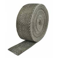 "Thermo-Tec - Thermo-Tec 2"" Wide Exhaust Wrap 50 ft Roll Woven Fiberglass Platinum - Each"
