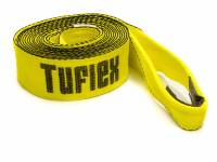 "Tools & Pit Equipment - Tuflex - Tuflex 3"" Wide Tow Strap 20 ft Long 22,500 lb Capacity Nylon - Yellow"
