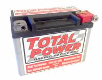 "Total Power Racing Batteries - Total Power Battery AGM Battery 12V 620 Cranking Amps Top Post Screw"" Terminals - 5.875"" L x 4.312"" H x 3.437"" W"