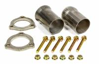 "Exhaust System - Hedman Hedders - Hedman Hedders 2-1/2"" Inlet to 2-1/2"" OD Outlet Collector Reducer 3-Bolt Ball and Socket Flange Hardware Stainless - Kit"