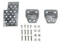 Recently Added Products - Steeda - Steeda Heal/Toe Pedal Pad Manual Trans Brake/Clutch/Gas Pads Steeda Logo - Aluminum