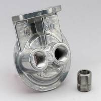 """Engine Components - Perma-Cool - Perma-Cool Single Filter Remote Oil Filter Mount 13/16-16"""" Thread Two 1/2"""" NPT Ports Bolt-On - Upward Facing Ports"""