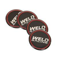 "Body & Exterior - Weld Racing - Weld Racing Weld Logo Logo Sticker 2"" Diameter Center Caps - Set of 4"