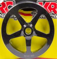 "Power Steering Pulleys - V-Belt Power Steering Pulleys - KRC Power Steering - KRC Power Steering V-Belt Power Steering Pulley 1 Groove 17 Spline 6"" Diameter - Aluminum"