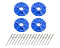 "Recently Added Products - Dominator Racing Products - Dominator Racing Products 1-1/2"" OD Scuff Plate 1/2"" ID Screw On Plastic - Blue"