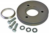 "Engine Components - Powermaster Motorsports - Powermaster Motorsports V-Belt Crankshaft Pulley 1 Groove 5-1/4"" Diameter Aluminum - Gray Anodize"