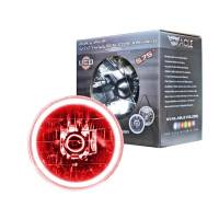 """Headlights and Components - Headlight Bulbs - Oracle Lighting Technologies - Oracle Lighting Technologies Sealed Beam Headlight 5-3/4"""" OD Halo LED Ring Requires H4 Bulb - Glass/Plastic"""