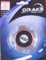 Drake Automotive Group - DRAKE AUTOMOTIVE GROUP Carbon Fiber Look Insert Master Cylinder Cap Aluminum Clear Anodize Ford Mustang 2005-14 - Each