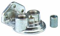 """Engine Components - Perma-Cool - Perma-Cool Single Filter Remote Oil Filter Mount 3/4-16"""" Thread Two 1/2"""" NPT Ports Bolt-On - Upward Facing Ports"""