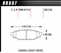 Recently Added Products - Hawk Performance - Hawk Performance HPS Compound Brake Pads High Torque Front Various Subaru 2004-14 - Set of 4