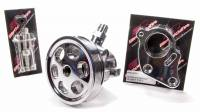 Power Steering Pulleys - Serpentine Power Steering Pulleys - Billet Specialties - Billet Specialties Serpentine Power Steering Bracket/Pulley 6-Rib Press-On Billet Aluminum - Polished