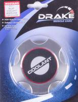 Drake Automotive Group - DRAKE AUTOMOTIVE GROUP Carbon Fiber Look Insert Radiator Cap Cover Adhesive Backing Aluminum Clear Anodize - Ford Mustang 2005-14