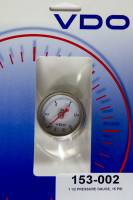 "Gauges and Data Acquisition - VDO - VDO 0-15 psi Fuel Pressure Gauge Mechanical Analog 1-1/2"" Diameter - 1/8"" NPT Port"