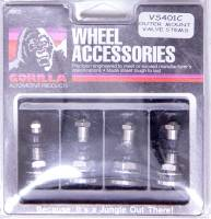 Valve Stems and Components - Valve Stems - Gorilla Automotive Products - Gorilla Automotive Outer-Mount Valve Stem Bolt-On Steel Chrome - Set of 4