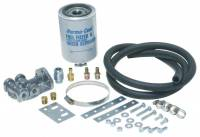 "Air & Fuel System - Perma-Cool - Perma-Cool Inline Fuel Filter 2 Micron Paper Element 1/4"" NPT Inlet/Outlet Bracket/Hardware Included - Aluminum"