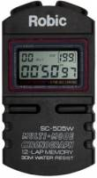 Robic - Robic Digital Stopwatch 12 Lap Memory Multi-Mode Black - Each